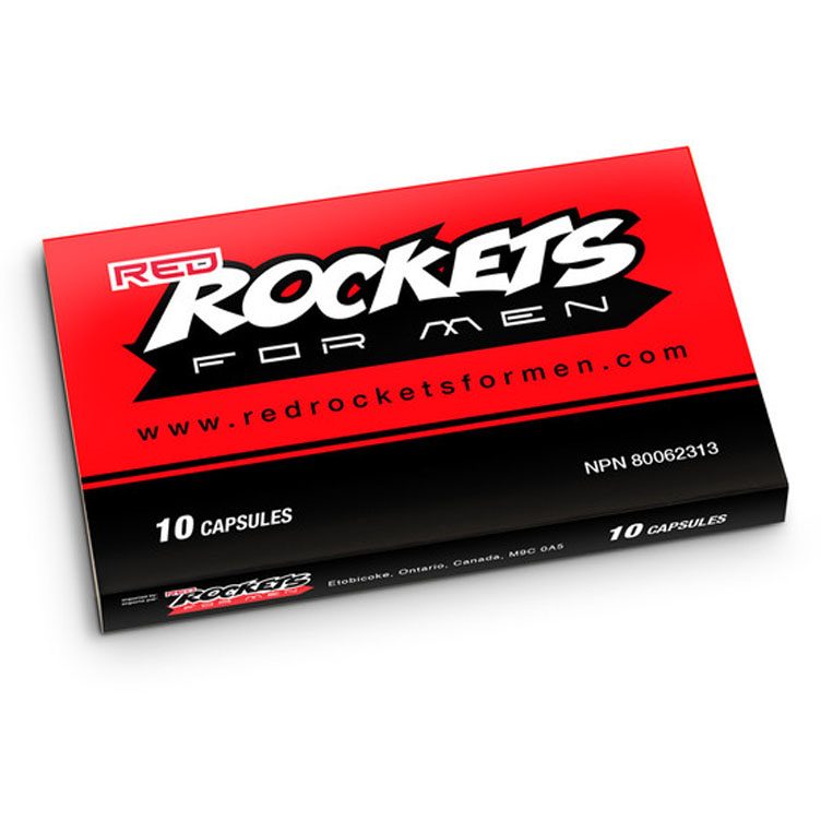 Red Rockets For Men Natual Herbal Male Enhancement Ten Capsule Power Pack